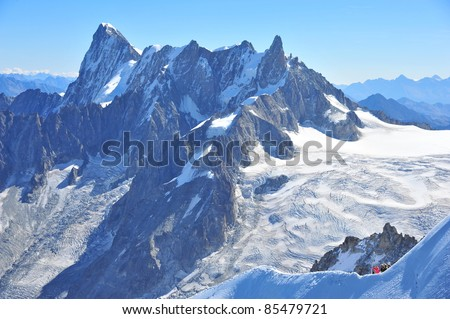 Peaks of Mountain Blanc