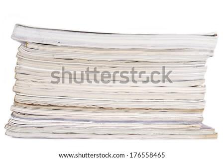 peal of magazines - stock photo
