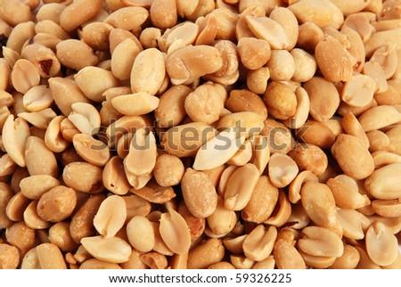 Peanut background - stock photo