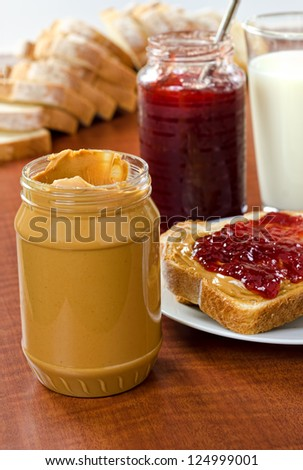 Peanut Butter and Jelly - stock photo