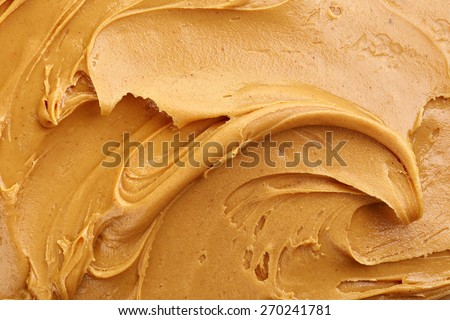 peanut butter background, top view - stock photo