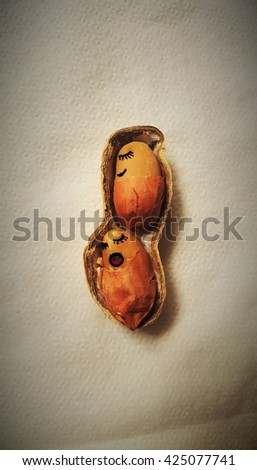 peanut; dried fruit - stock photo