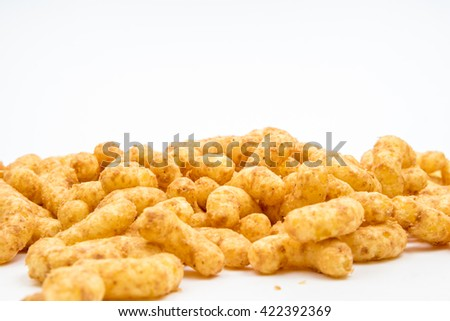 peanut flips with white background