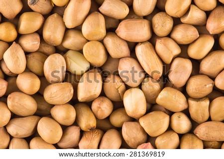 Peanuts background - stock photo