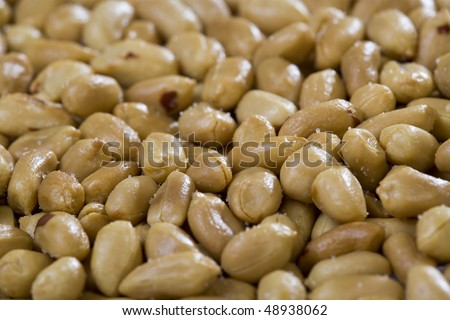 Peanuts background. Close-up. Shallow dof. Eos 1ds mkII - stock photo