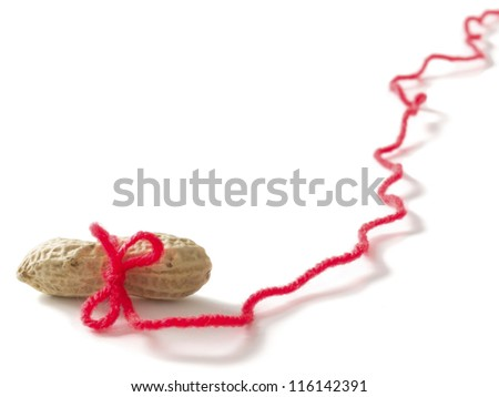peanuts carrot and stick concept - stock photo
