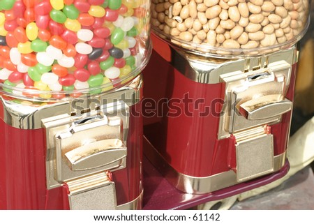 Peanuts or jelly beans ? - stock photo