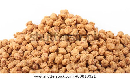 Peanuts snack for isolated on white