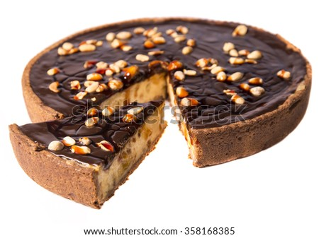 Peanuts tart cake - stock photo
