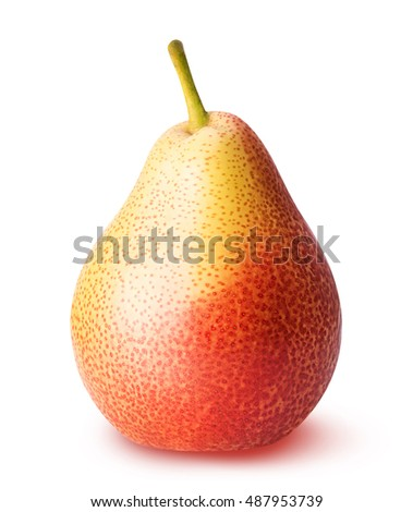 Pear fruit isolated on white background clipping path