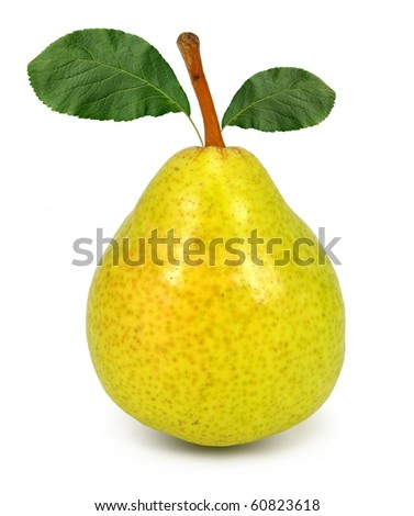 pear isolated on white