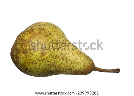 Pear isolated on white Background / Pear - stock photo