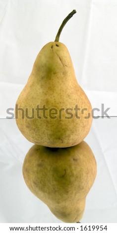 Pear Mirrored - stock photo