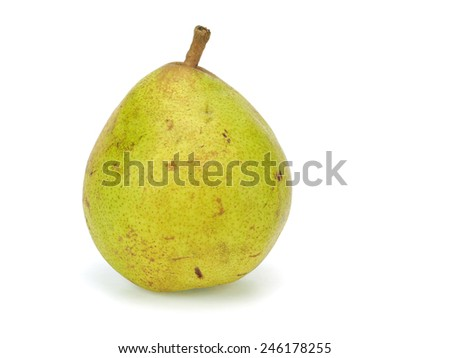 Pear on a white background - stock photo