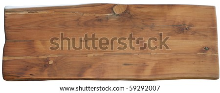 Pear wood Desk isolated on white with clipping path - stock photo