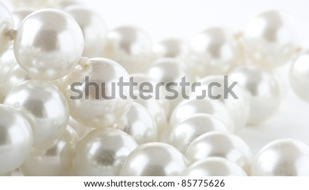Pearl isolated on the white background