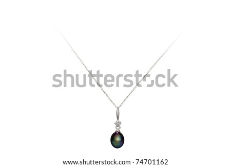 pearl necklace isolated on white background with clipping path
