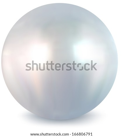 Pearl on a white background - stock photo