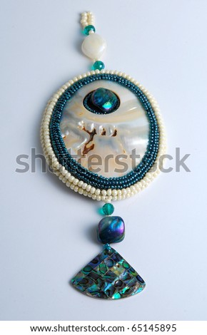 Pearl pendant - stock photo