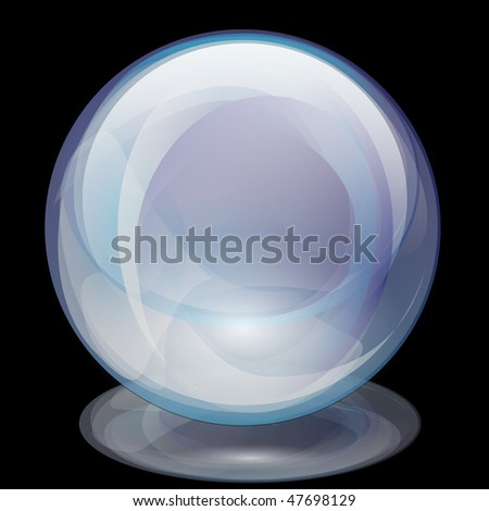 Pearl-Transparent Glass Sphere