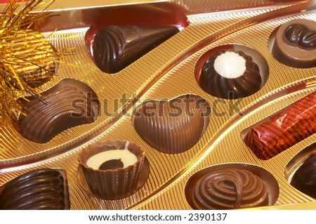 Pearls and chocolates - stock photo