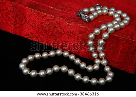 Pearls On A Red Box