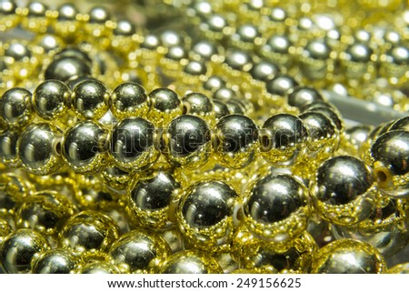 Pearls on the table. Texture pearls. - stock photo