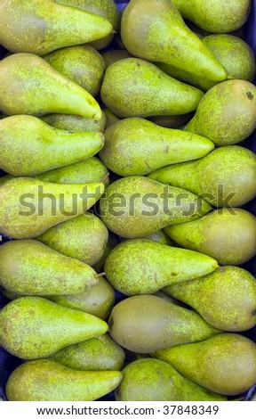 Pears close-up background
