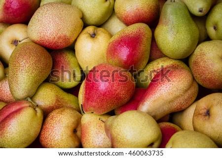pears closeup - pear background - fruit  macro  - stock photo