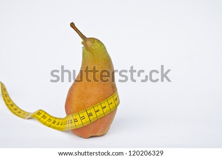Pears Diet - a fruit day, a must for figure-conscious - stock photo