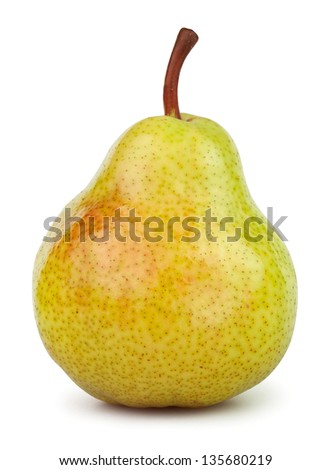 pears one on white background - stock photo