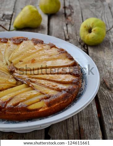 pears pie - stock photo