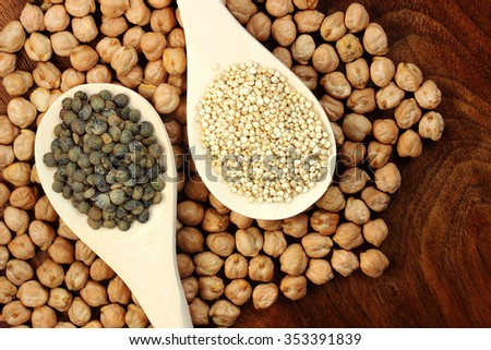 Peas and grains - stock photo