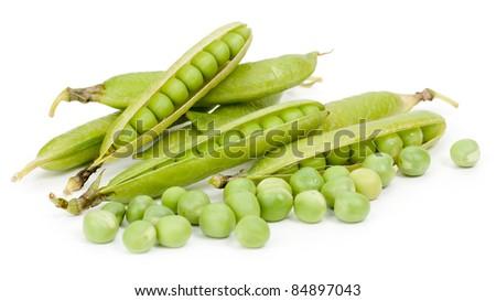 Peas isolate - stock photo