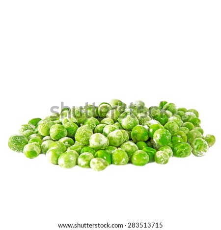 peases isolated on white - stock photo