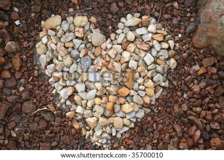 Pebble heart - stock photo