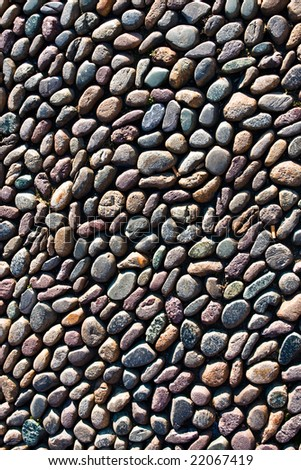 Pebble road texture - stock photo
