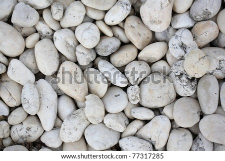 Pebble rock and stone for background texture - stock photo