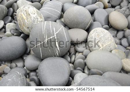 Pebble sea Stone texture - stock photo