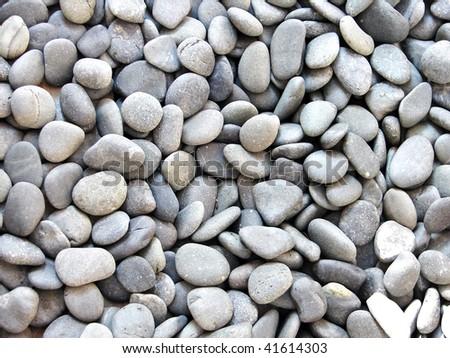 Pebble stones, background - stock photo
