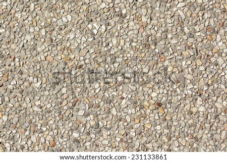 pebble stones floor texture background - stock photo