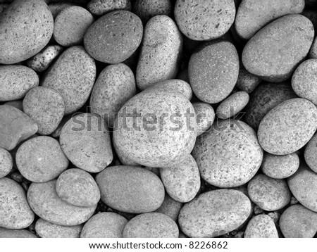 Pebble stones in different sizes - stock photo