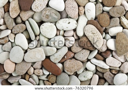 pebble stones surface  - stock photo