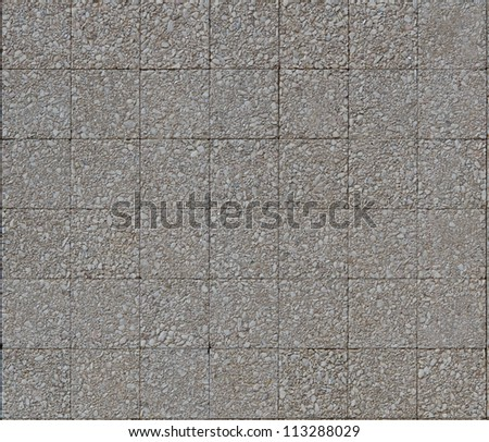 Pebble Surface Background with square pattern - stock photo