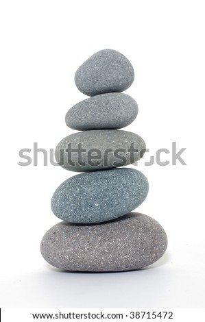 Pebble tower isolated - stock photo