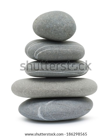 pebble tower isolated on white