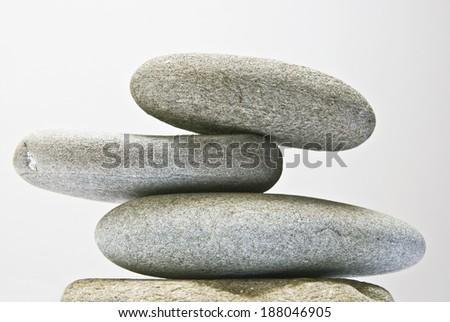 pebble zen - stock photo