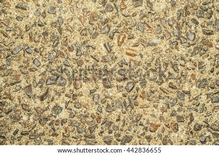 Pebbled concrete pavements found throughout the world especially at tourist destinations / Pebbled pavement / Arranged in various geometry and artistic form, natural sea and river pebbles use - stock photo