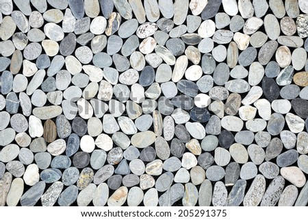 Pebbles background - stock photo