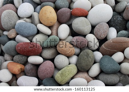 Pebbles on the beach - stock photo
